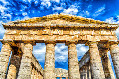 Grecka świątynia Segesta Fotografia Royalty Free
