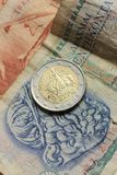 Grecka euro moneta Zdjęcie Stock