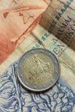 Grecka euro moneta Obraz Royalty Free