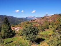 grecka górska wioska Obrazy Royalty Free