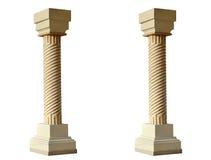 Grecka kolumna odizolowywająca Fotografia Stock