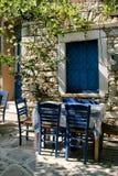 grecka plenerowa stołowa tawerna Fotografia Stock