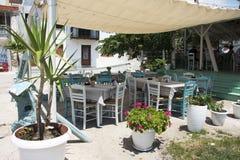 grecka restauracja Obraz Royalty Free
