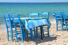Grecka tawerna morzem Obrazy Royalty Free