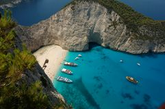 grecka wyspa Zakynthos Fotografia Stock