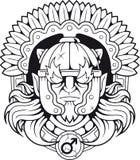 Grecki bóg wojna Ares ilustracji
