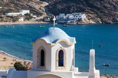 Grecki kościół w Ios wyspie, Grecja Fotografia Royalty Free