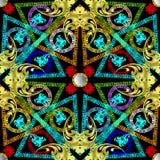 Grecki kolorowy geometryczny wektorowy bezszwowy wzór obraz royalty free