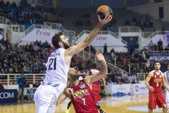 Grecki Koszykowy Ligowy gemowy Paok vs Olympiakos Fotografia Royalty Free