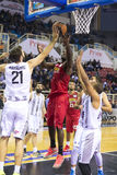 Grecki Koszykowy Ligowy gemowy Paok vs Olympiakos Zdjęcie Royalty Free