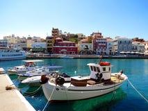Grecki miasto Agios Nikolaos Fotografia Stock
