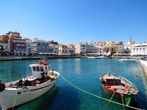 Grecki miasto Agios Nikolaos Obrazy Stock