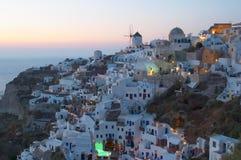 grecki Oia santorini tradycyjnej wioski Zdjęcie Stock