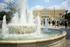 Grecki parlamentu budynek w Ateny Zdjęcie Stock