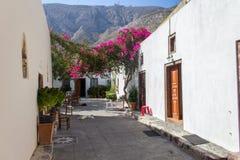 Grecki podwórze zdjęcie royalty free