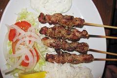 Grecki posiłek w Brighton fotografia royalty free