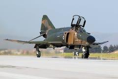 Grecki siły powietrzne F4 myśliwa Fikcyjny samolot Obrazy Stock