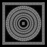 Grecki tradycyjny meander granicy set Wektorowa antyk ramy paczka Dekoracja elementu wzory w czarny i biały kolorach Etniczny col ilustracja wektor