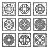 Grecki tradycyjny meander granicy set Wektorowa antyk ramy paczka Dekoracja elementu wzory w czarny i biały kolorach Etniczny col ilustracji