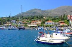 Grecki wioski marina Zdjęcia Royalty Free