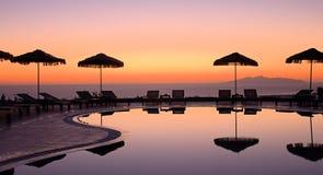 Grecki wschód słońca Fotografia Royalty Free