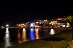 Grecki wyspa port obraz stock
