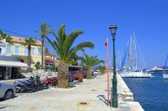 Grecki wyspa port Fotografia Royalty Free