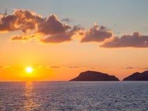 Grecki wyspa zmierzch obraz royalty free