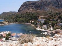 grecki wyspy Kastellorizo meyisti neighbourhood Zdjęcie Royalty Free