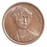 Greckie drachmy monet Zdjęcia Royalty Free