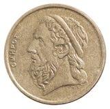Greckie drachmy monet Obraz Royalty Free