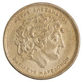 Greckie drachmy monet Obrazy Royalty Free