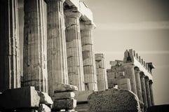 Greckie kolumny Zdjęcie Royalty Free