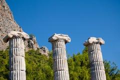 greckie kolumny Obrazy Royalty Free