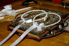 Greckie ślub korony Zdjęcia Stock