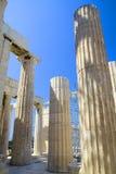 greckie stare kolumny Zdjęcie Royalty Free