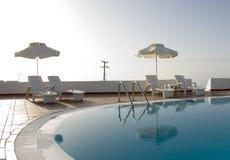 greckie wyspy basen opływa Zdjęcia Royalty Free