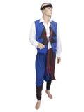 Greckiego cretan krajowego mężczyzna odzieżowy kostium na mannequin odizolowywającym Zdjęcie Stock