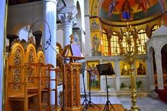 Greckiego kościół ambona Obraz Stock