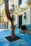 Street of the Greek capital city of Athens royalty free stock photography
