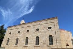 Greckokatolicka bazylika święty George w grodzkim Madaba, Jordania Fotografia Royalty Free