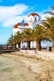 Greckokatolicki kościół w Paralia Katerini plaży, Grecja Fotografia Royalty Free