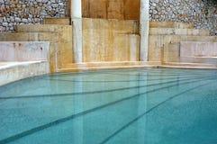 greco室内游泳池罗马风格 免版税库存图片