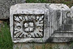 Greco-римская ваяемая реликвия, Hierapolis, Pamukkale, Турция стоковые фото