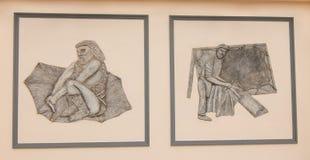 Greco di arte dell'incisione della parete fotografia stock libera da diritti