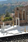 Greco-Roman amphitheater in Taormina Royalty Free Stock Photography