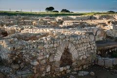 Greco roman ruïnes van Emporda Stock Foto