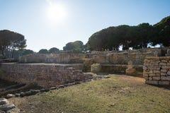 Greco roman ruins of Emporda. Costa Brava, Catalonia, Spain Stock Photo