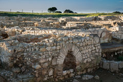 Greco roman ruins of Emporda Stock Photo