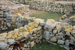 Greco roman ruins of Emporda. Costa Brava, Catalonia, Spain Stock Image